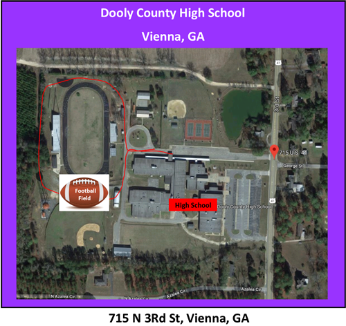 Map to Dooly Co Stadium