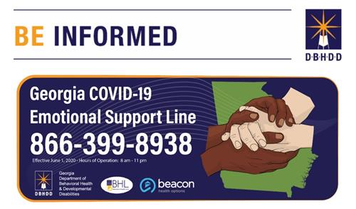 Be Informed- Covid Emotional Support Line