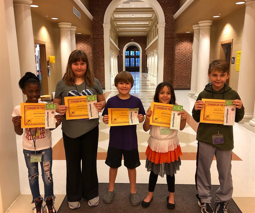 3rd GRADE STUDENTS OF THE WEEK FOR NOV 9
