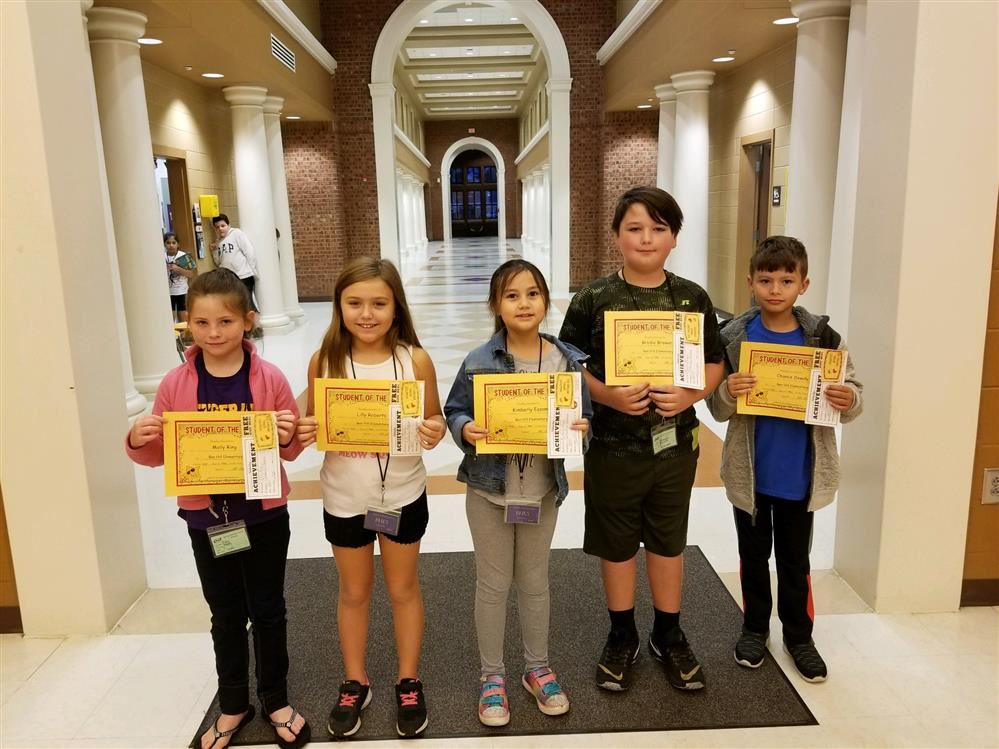 3RD GRADE STUDENT OF THE WEEK AWARDS FOR OCT. 29 - NOV. 2