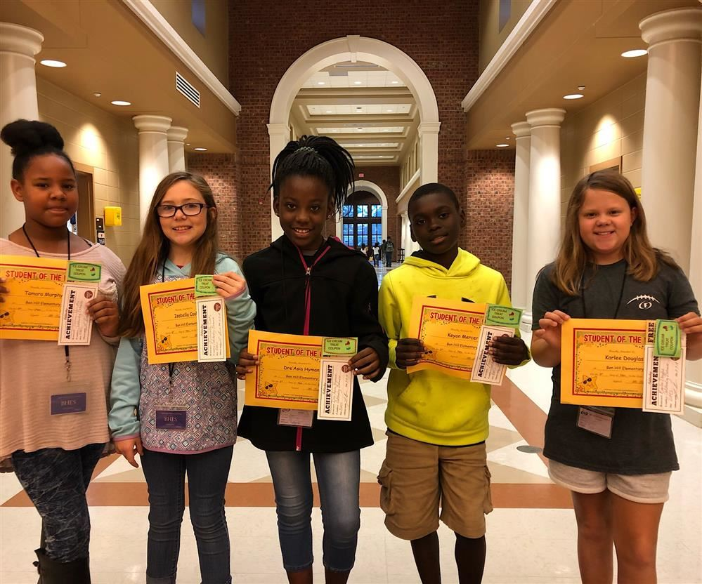 4TH GRADE STUDENT OF THE WEEK AWARDS FOR OCT. 29 - NOV. 2