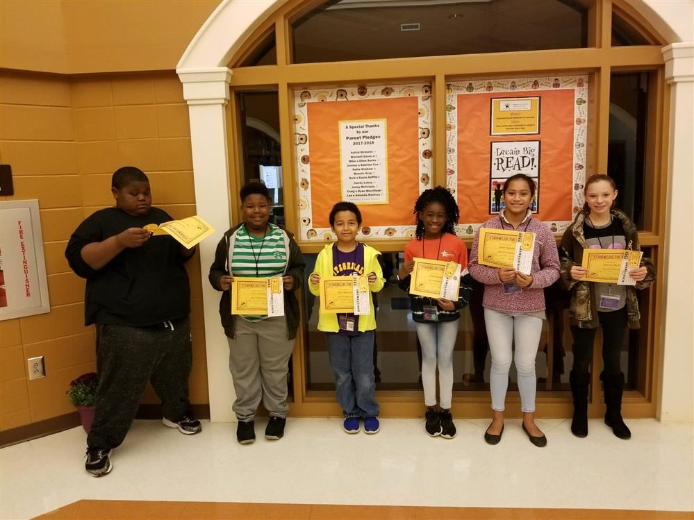 5TH GRADE STUDENT OF THE WEEK AWARDS FOR OCT. 29 - NOV. 2