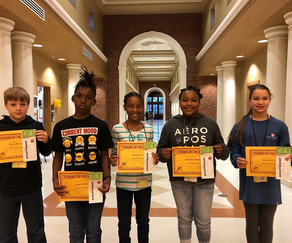 5th GRADE STUDENTS OF THE WEEK FOR NOV. 9