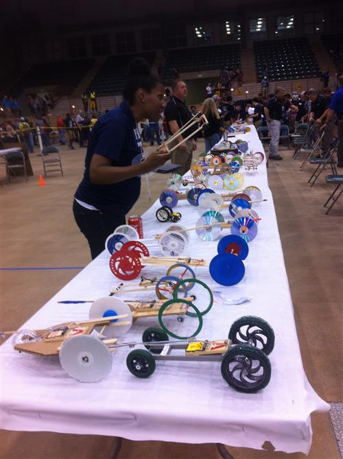 Mousetrap vehicle competition at GATSA Day at the Fair in October
